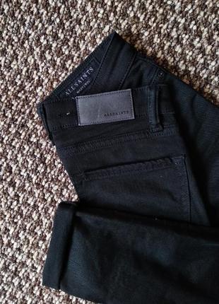 Джинсы allsaints скини прямые черные брюки