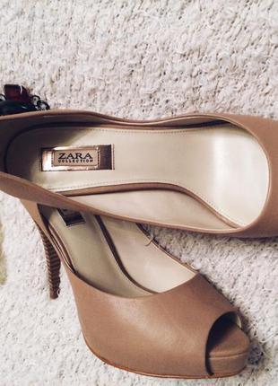 Туфли zara,кожаные туфли, кожаные zara5