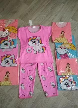Детская яркая пижамка