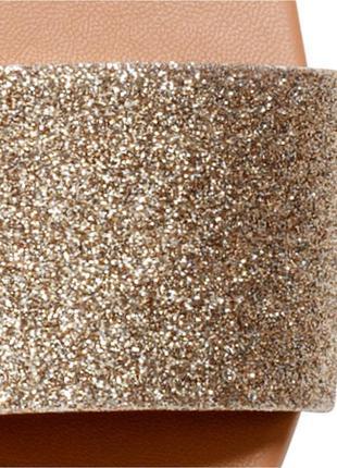 Новые шлепанцы от h&m золото 37, 385