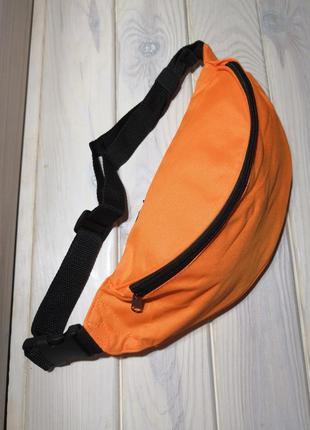 Сумка бананка на пояс поясная сумка оранжевая probeauty