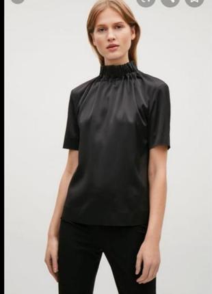 Блуза с высоким горлом cos
