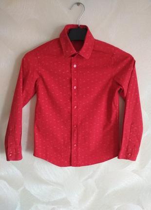 Нарядная красная рубашка
