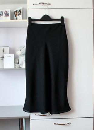 Черная юбка в бельевом стиле от etam