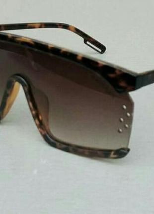 Calvin klein очки маска женские солнцезащитные коричневые тигровые