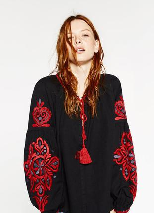 Блуза, вышиванка zara1