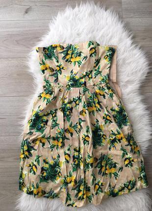 Платье в ярки принт лимоны zara2