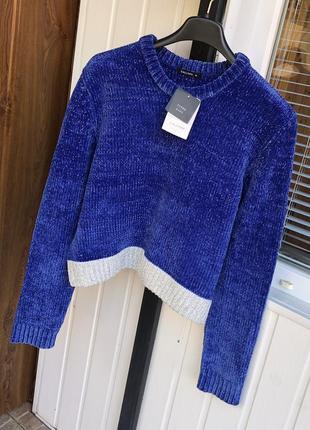 Новый свитер кофта джемпер светр твидовый велюровый италия zara calliope