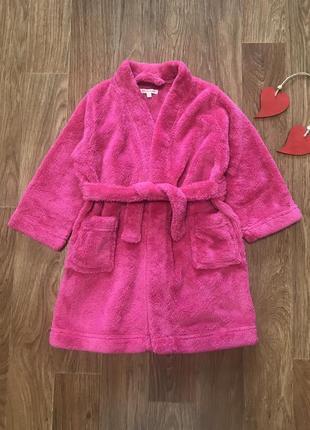 Мягусенький халат под пояс 3-4 года