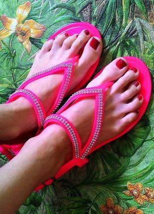 Силиконовые босоножки сандалии