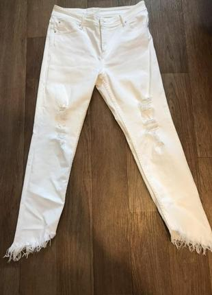 Джинсы штаны брюки рваные