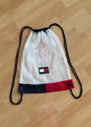 Стильный брендовый рюкзак сумка сетка авоська торба tommy hilfiger