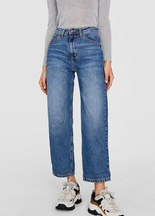 Новые джинсы прямого кроя stradivarius размер 36 s