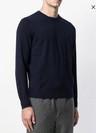 Пуловер из тонкой шерсти дорогой бренд англии savile row размер xl