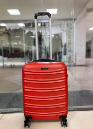 Малый чемодан валіза пластиковый на колесах дорожная