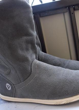 Замшевые демисезонные ботинки кеды высокие ботильоны полусапоги