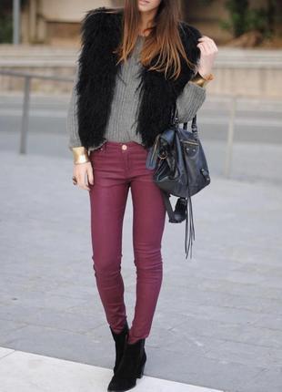 Новые бордовые  джинсы скинни с бирками armani exchange (оригинал)