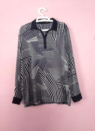 Блуза длинный рукав большой размер красивая