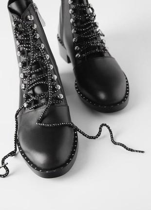 Ботинки натуральной кожи zara