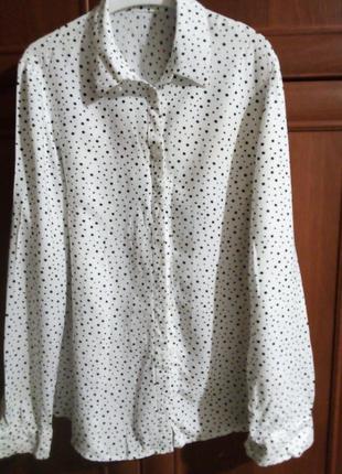Лёгкая блузочка в горошек