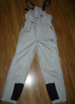 Штаны лыжные полукомбинезон l серый цвет