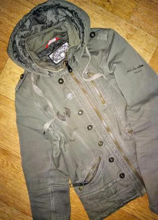Стильная котоновая куртка цвета хаки!