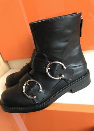 Полусапожки mango 36 размер zara cos asos сапоги ботильоны ботинки