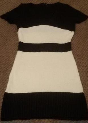Черно-белое теплое платье от tally weijl1