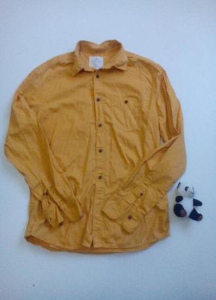 Рубашка котонова пісочного кольору в ідеальному ста