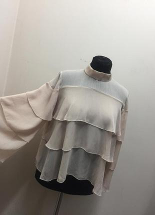 Блузка zara basic (m).
