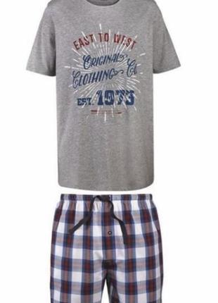 Пижама мужская костюм для дома шорты футболка р. евро 60 62 xxl германия
