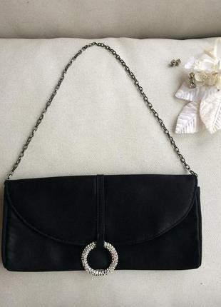 Jasper conran англия стильная вечерняя сумка сумочка клатч 100% шелк,  кристаллы