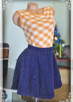 Короткая юбка-солнце,утепленная,плотный материал,р.xxs-s1