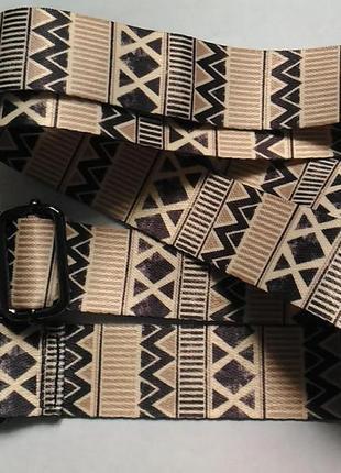 Плечевой ремень для сумки с серебристой фурнитурой