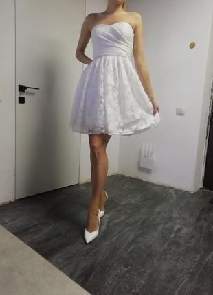Нове біле плаття naf-naf