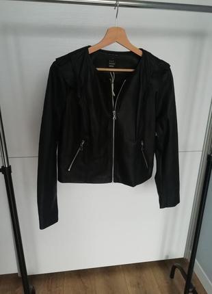 Zara leather jacket кожанка эко кожа, кожаная куртка