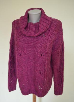 Красивая брендовая теплая кофта свитер шерсть 28%