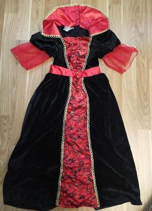 Платье вампирша 5-6 лет