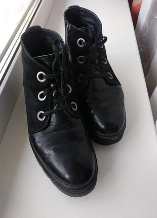 Ботиночки кожа /замш