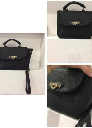 Нереально крутая маленькая черная сумка на длиной ручке через плече / очень круто смотрится / вмести1