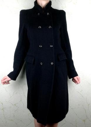Красивое черное пальто 100% шерсть zara