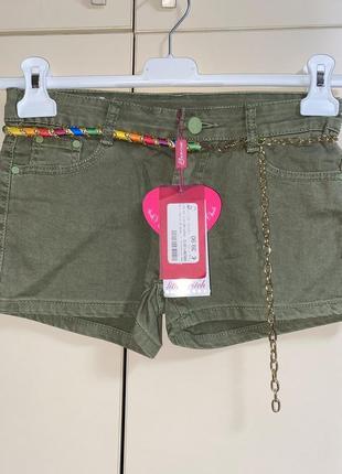 Стильные шорты на девочку 11-12 лет, италия