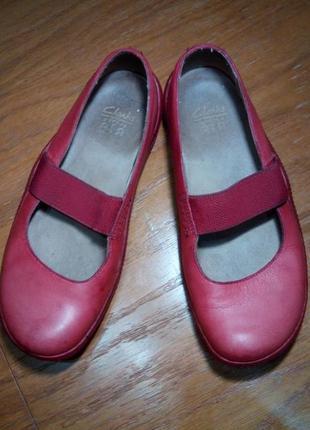 Удобные мягкие туфли мокасины clarks кожа 100 %2
