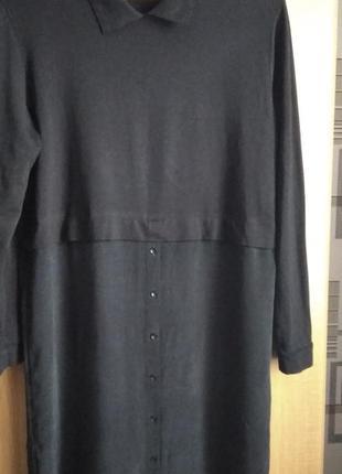 Фабричная турция. туника-платье. верх машинная вязка, низ - тканевый, размер 38