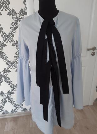 Красивое платье рубашка с завязками лентами с м 8 10
