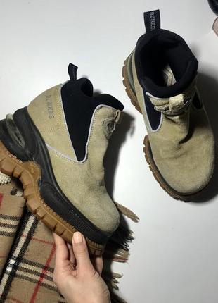 Крутые ботинки на платформе натуральная замша 36- 37