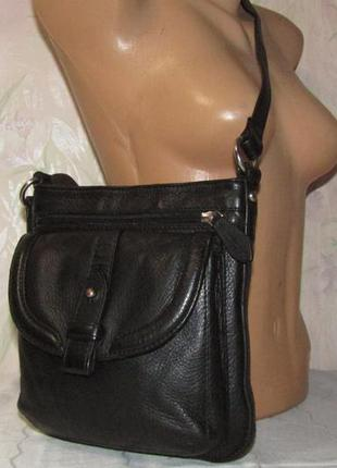 Удобная сумка через плечо 100 % мясистая кожа / clarks / индия2