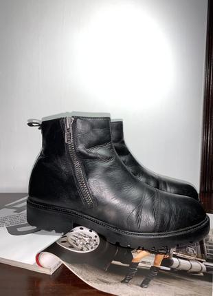 Тёплые кожаные ботинки vagabond shoemaker