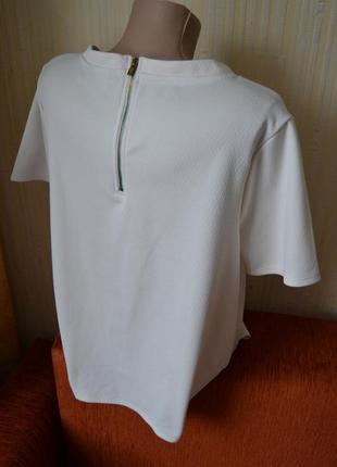 Футболка блуза бежева з замочком new look4