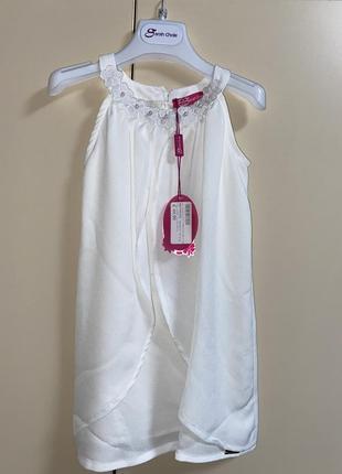 Легкое нарядное платье на девочку 4-5 лет, италия